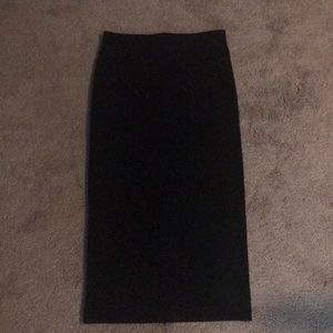 H&M ponte pencil skirt with zipper back
